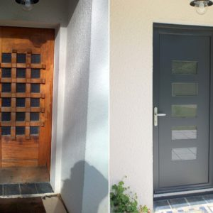 remplacer une porte en bois par du pvc